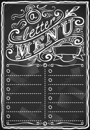 vintage graphic place card menu for bar or restaurant