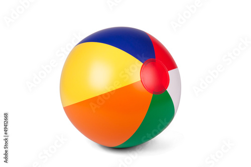 Leinwanddruck Bild Colored inflatable beach ball