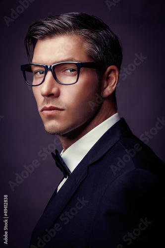 handsome fashion male portrait