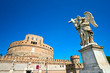 Castel Sant'angelo and Bernini's statue, Rome, Italy.