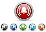 alarm vector icon set