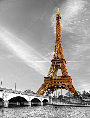 Plakat Eiffel tower, Paris.