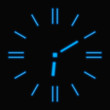 Abstract neon clock