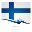 Finnish flag ribbon background vector