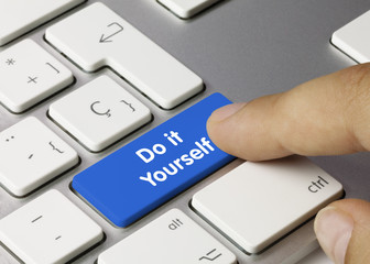 Do it Yourself keyboard key. Finger