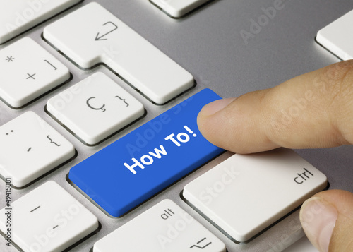How To! keyboard key. Finger