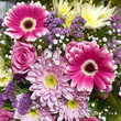 A beautiful bouquet ,variety of flowers bacground