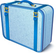 Blue ornate traveler's vector suitcase