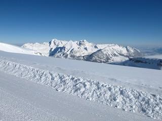 Winter scenery in the Swiss Alps
