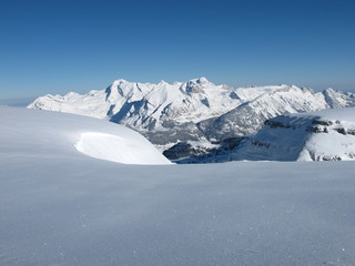Snow covered mountains, Mt  Saentis