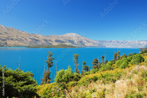 Lake Wakatipu - inland lake in the South Island of New Zealand.
