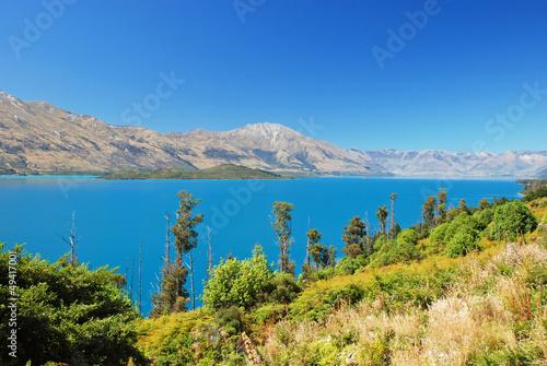 Lake Wakatipu - inland lake in the South Island of New Zealand.