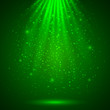 Green magic light abstract background