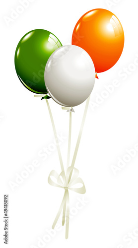 Balloons in irish colors