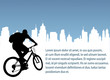 bicyclist on the abstract urban background - vector