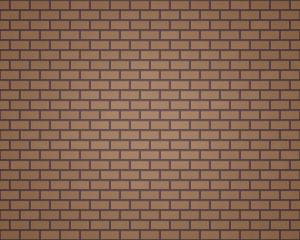 Wall of brown rectangular bricks