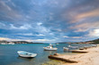 Coastal landscape and marina, Croatia