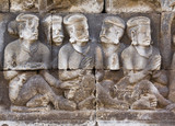 Carved relief at Boroburdur