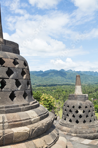 View from top of  Borobudur Temple.