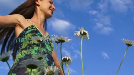 Woman enjoying summer outdoors