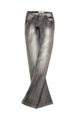 Grey worn jeans