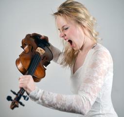 Wutanfall mit Geige