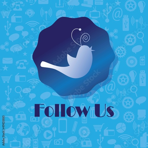 follow me and follow us