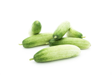 The green cucumbers