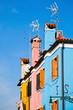 bunte Hausreihe in Burano