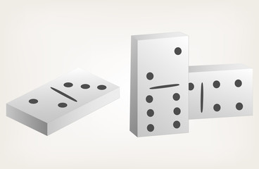 Dominoes. Style vector