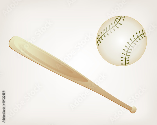 Baseball and Bat. Style vector
