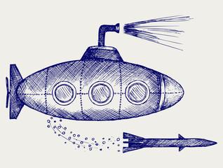 Submarine. Doodle style