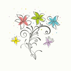 Floral background. Bouquet of flowes.