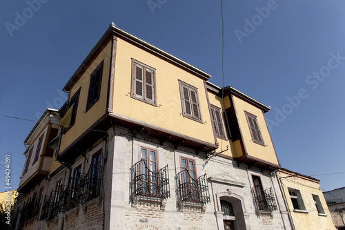 old greek style house at ayvalik turkey
