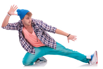 young male dancer performing