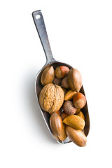 various nuts in scoop