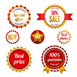 Set of sale badges, labels and stickers