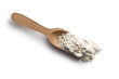 flour in wooden scoop