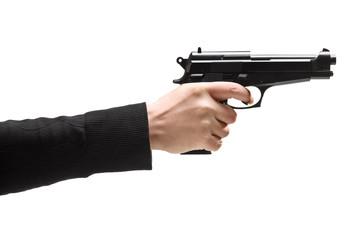Robber holding a gun