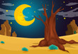 A moonlight evening