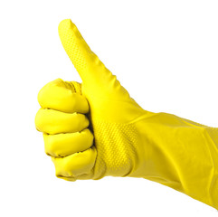 Household yellow gloves