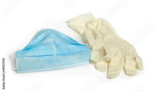 Medical mask and gloves