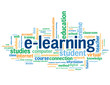 """E-LEARNING"" Tag Cloud (education online web internet studies)"
