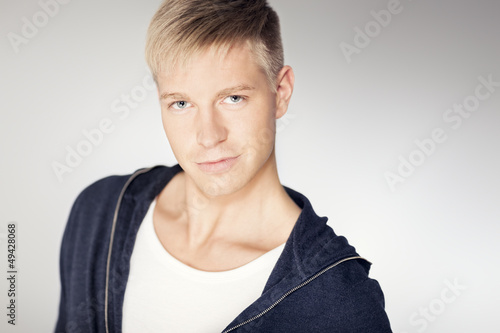 Portrait of charming confident man.