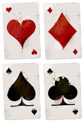 Poker cards set