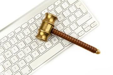 auction hammer keyboard