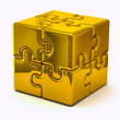 Gold  puzzle cube