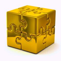 Gold  puzzle cube