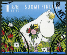 FINLANDE - 2007: montre Snork Maiden, personnages Moomin