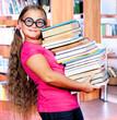 School student in goggles